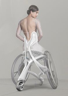 Crazy association the persin on the thing creates a crazy association for a bridal wheelchair . Japan Design, Velo Design, Colani, Industrial Design Sketch, Medical Design, Science And Technology, Medical Technology, Cyberpunk, Concept Art