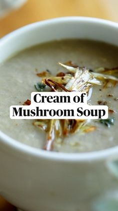 Healthy Soup Recipes, Vegetarian Recipes, Cooking Recipes, Mushroom Recipes, Best Mushroom Recipe, Good Food, Yummy Food, Tasty, Creamed Mushrooms