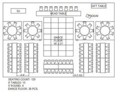 wedding reception floor plan for 120 - Google Search