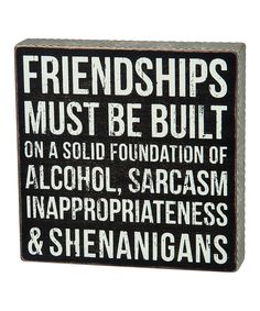 Look at this #zulilyfind! Wood 'Friendships' Box Sign by Primitives by Kathy #zulilyfinds