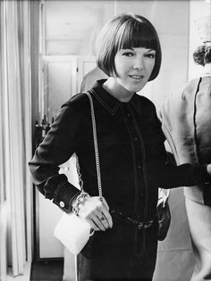 Mary Quant was an idolized British fashion designer and style expert.  She was part of the mod movement and promoted fun (and funky) fashion for the youth.  She was known to be the creator of mini skirts.