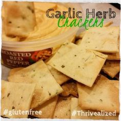 Garlic Herb Gluten Free Crackers