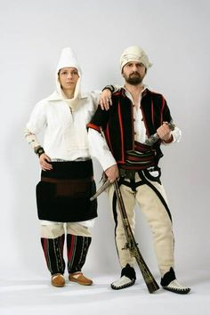 Traditional Albanian costumes from Kosovo