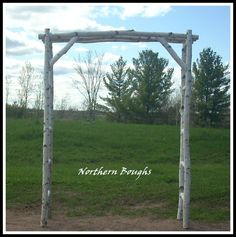 Brides Entrance Birch Wedding Arch Arbor Kit Rustic Garden Trellis White BirchArbor