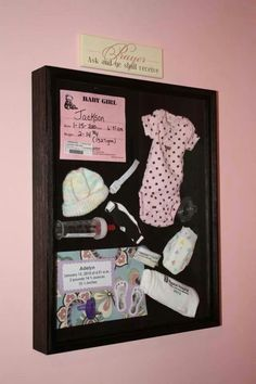 Shadow boxes for holding precious memories.