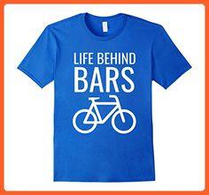Mens Life Behind Bars Funny Bike BMX Cycling Bking Gift T-Shirt XL Royal Blue - Sports shirts (*Partner-Link)