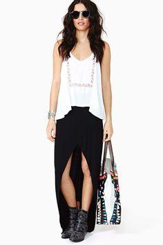 Undercover Maxi Skirt - Black