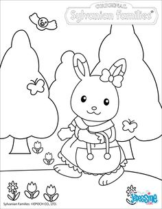 Sylvanian Families pictures to colour, wonderful