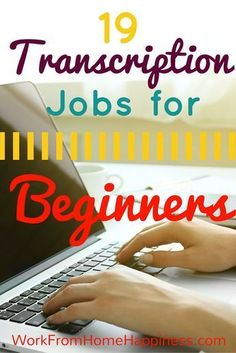 Looking for a work from home transcription job but have no experience? No problem! These 19 companies hire beginning typists. #FinanceImages