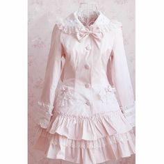 Petite - Plus Size Pink Bunny Ear Hooded Lolita Dress Trench Coat Women SKU-11401617