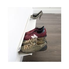j-me Horizontal Shoe Rack – Wall Mounted Shoe Organizer Keeps Heels, Boots, Sneakers & Sandals Off The Floor. A Great Shoe Storage Solution for Your Entryway Or Closet.