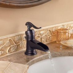 The Pfister Ashfield Bathroom Faucet Has Country Pump Handles Perfect For Traditional Rustic And Shabby Chic Bathrooms Bat Remodel Pinterest