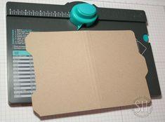 Utiliser le punch board enveloppes pour faire un dossier de fichier carte...