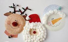 Новогодние поделки из тарелок. Творчество с детьми | БЛОГ ДОМОХОЗЯЙКИ