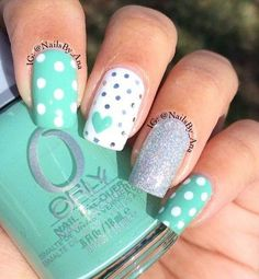 17 Fashionable Mint Nail Designs for Summer: #4. Lovely Mint Nail Design