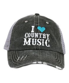 0ac9b7d4950 Loving this Gray  amp  Turquoise  I Love Country Music  Baseball Cap on