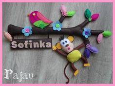 Handmade dětská dekorace - Handmade decoration #handmade #felt #decoration #modrykonik