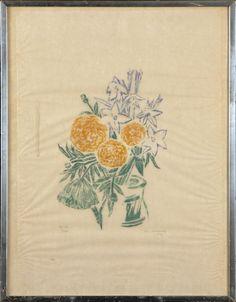 Ina Colliander, 1974, puupiirros, 60x45 cm, edition 2/200 - Hagelstam A124