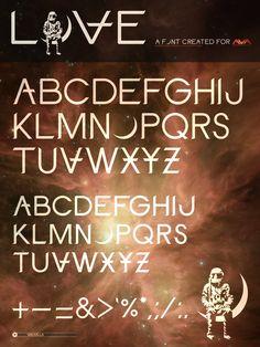 LOVE font for Angels & Airwaves by Scott Hultgren, via Behance