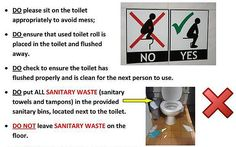 Toilet training posters for Swansea University students
