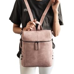 Simple Style Backpack Women PU Leather Backpacks For Teenage Girls School Bags Fashion Vintage Solid Shoulder Bag mochila XA568H //Price: $33.42 & FREE Shipping //     #latest    #love #TagsForLikes #TagsForLikesApp #TFLers #tweegram #photooftheday #20likes #amazing #smile #follow4follow #like4like #look #instalike #igers #picoftheday #food #instadaily #instafollow #followme #girl #iphoneonly #instagood #bestoftheday #instacool #instago #all_shots #follow #webstagram #colorful #style #swag…