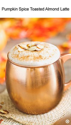 This is just one of those coffees that warms your heart with festive cheer. Start by putting your cinnamon, nutmeg, pumpkin pie spice, maple syrup & almond extract in a nice, large mug. Then, pour in your freshly brewed coffee & stir. Leave room to add in your creamer. Next, blend the creamer with a hand mixer until it's thick & frothy. That should take about 2 minutes. Pour it into your coffee and garnish it with toasted almonds & cinnamon. Now all that's left is to savor that holiday…