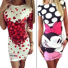 Vestidos 2016 Love Heart Print Slim Pencil Dresses Party Plus Size Women Clothing Casual Bandage Bodycon Summer Dress Robe