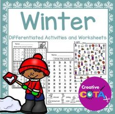 This is a Winter unit bundle that includes differentiated, themed worksheets/activities which incorporate math, literacy, writing, fine motor, and visual perceptual skills. These activities can be used for centers, small group therapy sessions, classroom activities or
