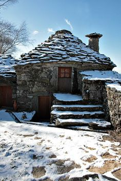 Teenie, tiny house in winter