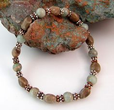 Petoskey stone and African opal bracelet by rwilberg
