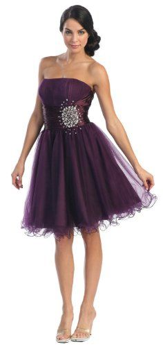 Short Strapless Dresses for Teenagers