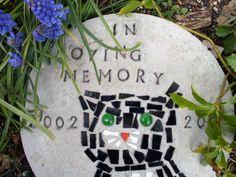Cat Memorial Garden Stones Homemade stepping stone pet memorials heart breaks pet memorials how to make a pet memorial stepping stone google search workwithnaturefo