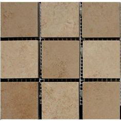 "#Interceramic - Cedar Stone Random Mosaic 6"" x 6"" Wall Decorative"