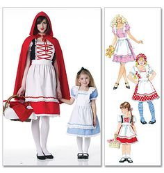 RED RIDING Hood ,ALICE in Wonderland,  Storybook Costume Pattern by McCall's 6187 * Girls 3-8 by TLCsTreasures on Etsy https://www.etsy.com/shop/TLCsTreasures?ref=hdr_shop_menu
