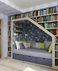 Library Nook for my toddler may actually make him get out of our bed :) #essentialembrace
