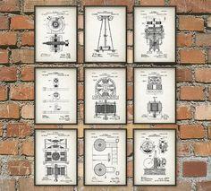 Tesla Patent Prints - Nikola Tesla Engineering Invention Patent - Tesla Motors…