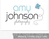Photography Logo and Watermark, Butterfly Customizable Premade Logo Design