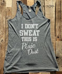Fitness workout gym tank top  I Don't Sweat This is by edenbella