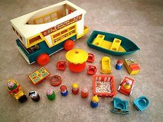 Fisher #price play #family camper van with #motorbike, vintage 1970s/80s toy.,  View more on the LINK: http://www.zeppy.io/product/gb/2/252283407492/