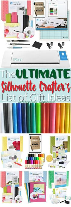 If you have a Silhouette CAMEO or Portrait you NEED to save this list of ideas.  Seriously everything you would ever want as a crafter!!