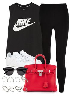 """Style  #10643"" by vany-alvarado ❤ liked on Polyvore featuring T By Alexander Wang, NIKE, adidas, Hermès, Yves Saint Laurent and ASOS"
