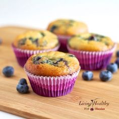 Blueberry Muffin made with coconut flour - gluten free, dairy free, paleo.