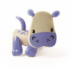 Hippo wants to join you for snack time! Bamboo and eco-friendly animal toys. Fully posable with movable body feartures - legs, tail, ears and nose. Perfect travel size for backpack or purse toy! Makes a great desk pal for the office, too. Wooden Puzzles, Wooden Toys, Recycled Toys, Hape Toys, Wooden Educational Toys, Planet For Kids, Green Toys, Eco Friendly Toys, Interactive Toys