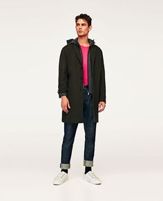 ZARA MAN FABRIC COAT REMOVABLE INTERIOR AW 17