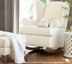 Wingback Convertible Rocker & Ottoman | Pottery Barn Kids