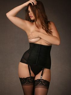e550580469 Hips and Curves Waist Cincher with Garter Straps Lingerie Collection