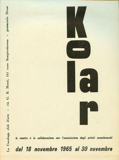 JIRI KOLAR,  LA CARABAGA CLUB D'ARTE,  1965