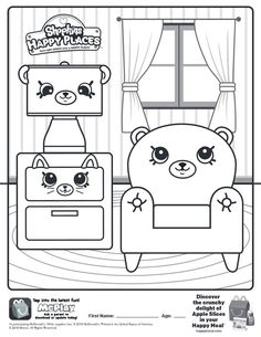 Here Is The Happy Meal Shopkins Places Coloring Page Click Picture To See