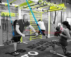 Functional Fitness wall bridge for bodyweight, suspension, medicine ball training. The MoveStrong Nova Wall Bridge