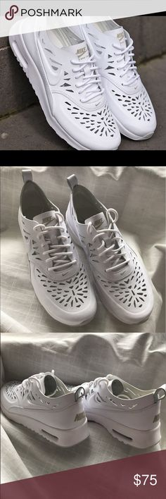 Nike Air Max Thea Cut-Outs Brand new! Never worn. White Nike leather cut out sneakers. Size 8.5 womens. Nike Shoes Sneakers